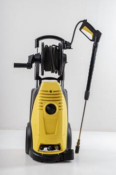 Professional pressure washing equipment